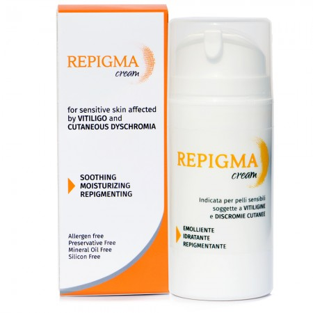 Repigma Cream - For Sensitive Skin Affected by Vitiligo and Cutaneous Dyschromia