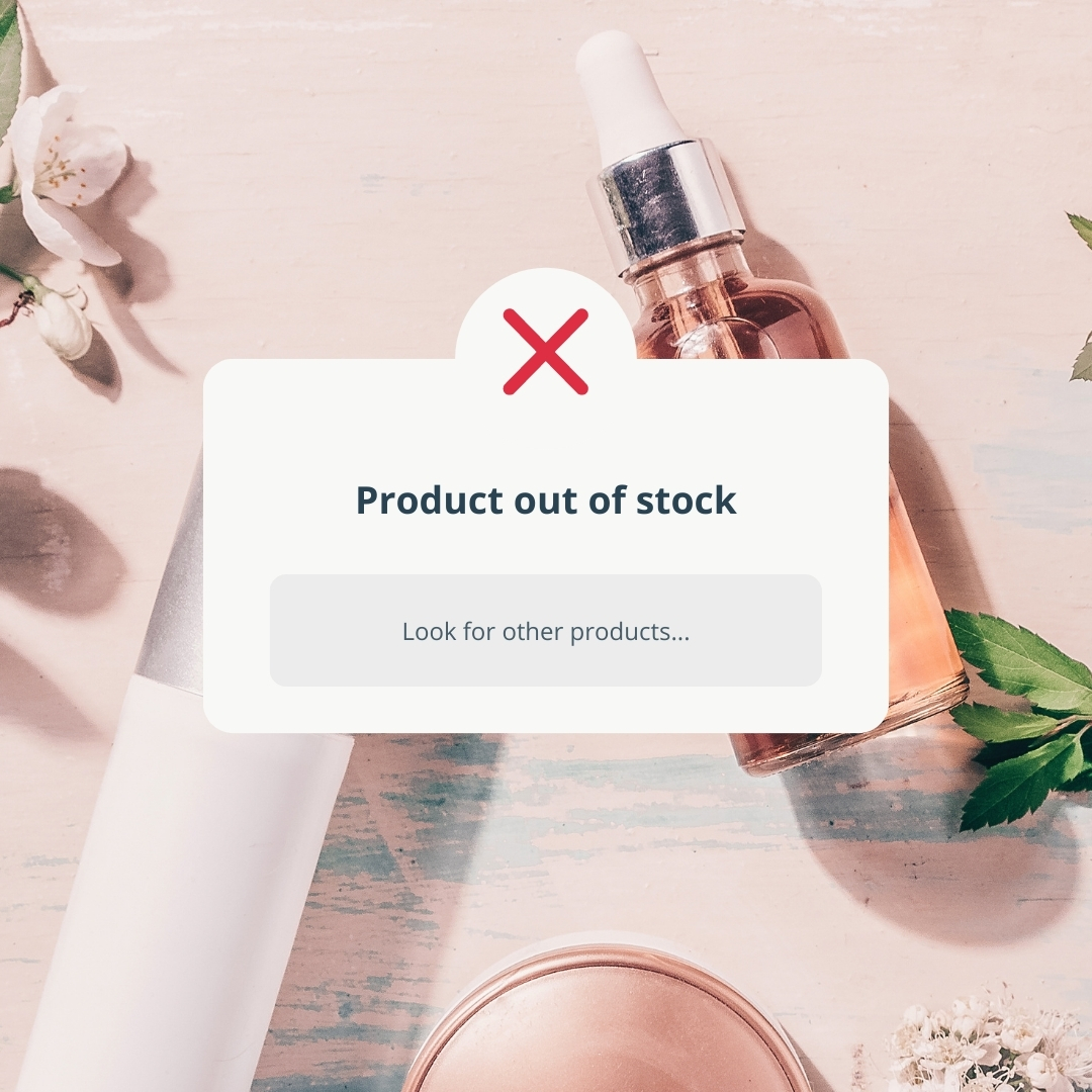 cosmetic out of stock